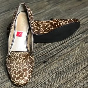 New Fossil Calabash Pony Hair Loafer Flats